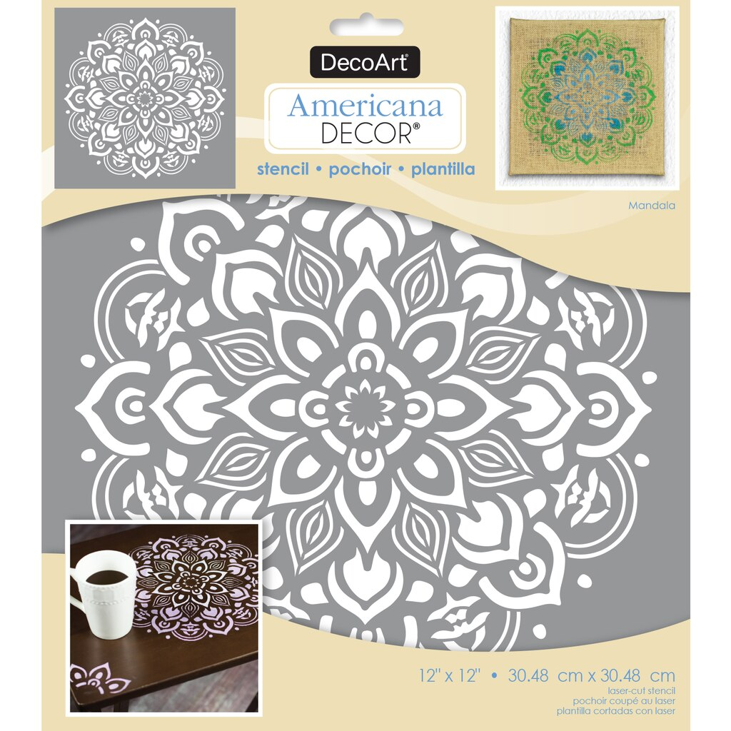 Buy The Americana DecorR Laser Cut Stencil Mandala At Michaels